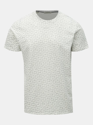Tricou crem cu model Selected Homme Kristian