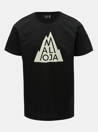 Tricou barbatesc negru cu imprimeu Maloja Christian