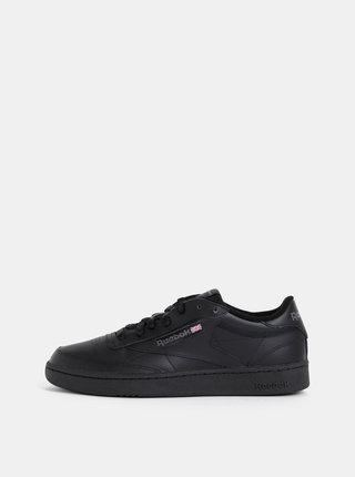 Pantofi sport barbatesti negri din piele Reebok Classic Club C 85