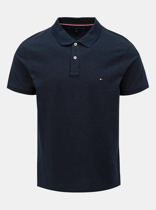 Tmavě modré pánské basic polo tričko Tommy Hilfiger