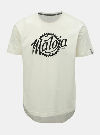 Tricou barbatesc crem cu imprimeu Maloja Runatsch