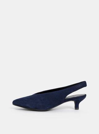 Pantofi albastru inchis din piele intoarsa Vagabond Minna