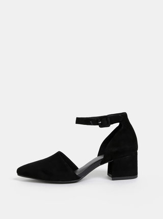 Pantofi negri din piele intoarsa Vagabond Mya