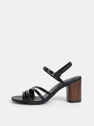 Čierne kožené sandálky Vagabond Carol