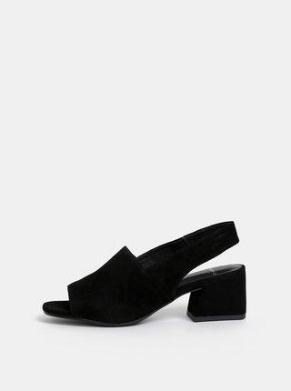 Sandale negre din piele intoarsa Vagabond Elena