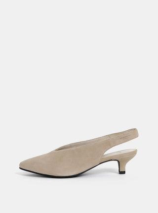 Pantofi bej din piele intoarsa Vagabond Minna