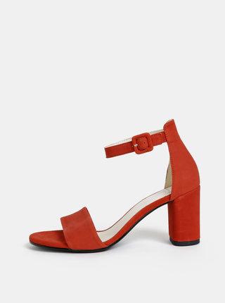 Červené semišové sandálky Vagabond Penny