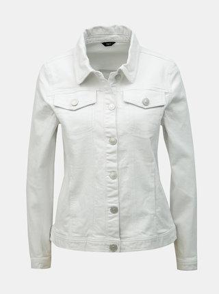 Jacheta alba din denim M&Co
