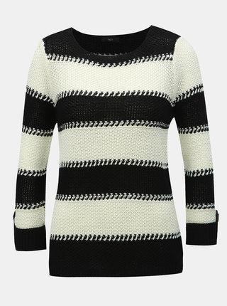 Pulover alb-negru in dungi M&Co