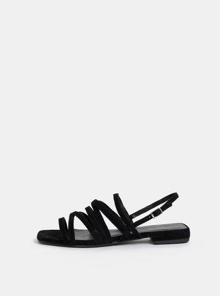 Čierne dámske semišové sandále Vagabond Becky