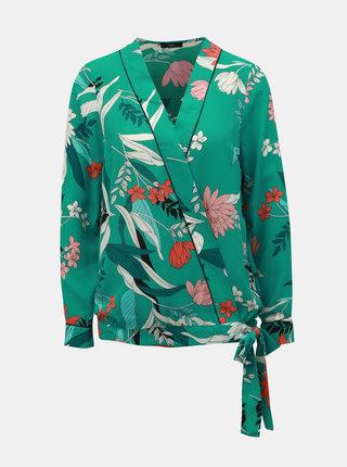 Zelená kvetovaná blúzka M&Co