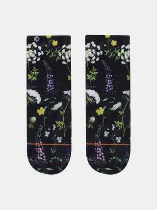 Čierne dámske kvetované ponožky XPOOOS