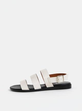 Krémové kožené sandále OJJU