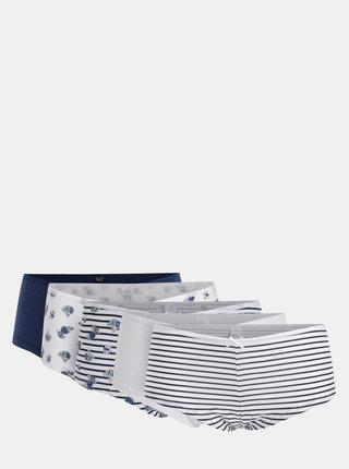 Balenie piatich nohavičiek v bielo–modrej farbe M&Co