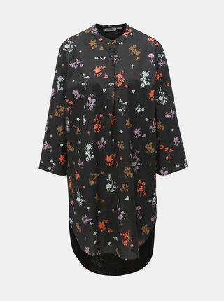 Čierne kvetované košeľové šaty Maloja Fontana