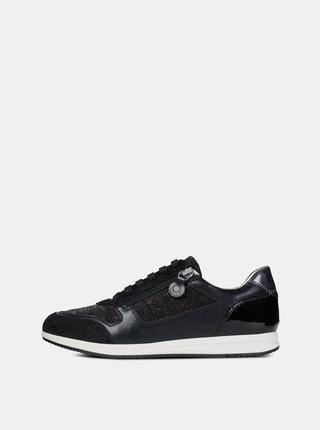 Pantofi sport negri de dama cu detalii metalice Geox Avery