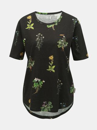 Čierne dámske kvetované tričko Maloja Pranzaira