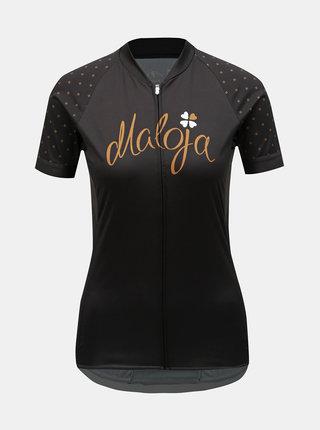 Tricou functional negru de dama Maloja Porta