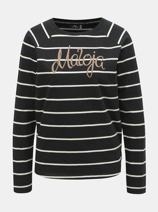 Čierne dámske pruhované tričko Maloja Gurlaina