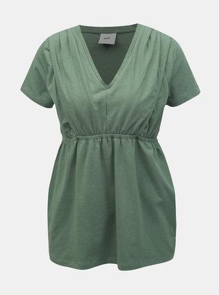 Zelený top na dojčenie Mama.licious