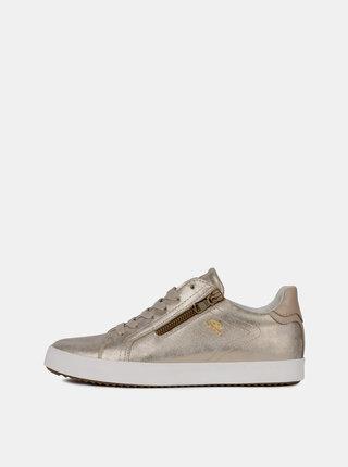 Metalické dámske tenisky v zlatej farbe Geox Blomiee