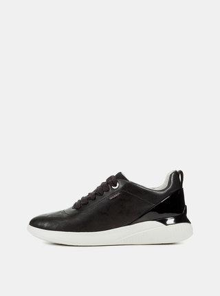 Pantofi sport negri de dama din piele Geox Theragon