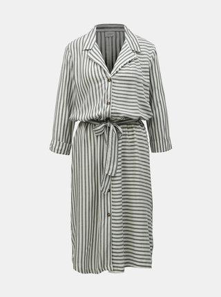 Rochie tip camasa gri-alb in dungi Jacqueline de Yong Karla