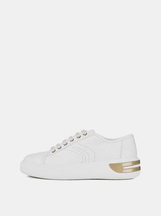 Pantofi sport albi de dama din piele Geox Ottaya