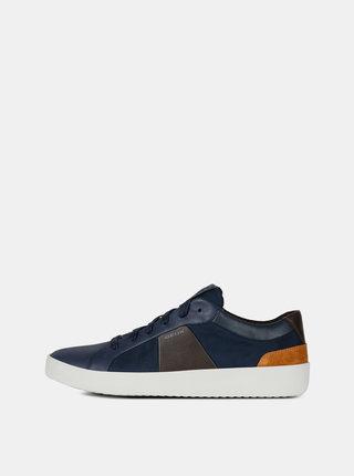 Pantofi sport barbatesti albastri din piele Geox Warley
