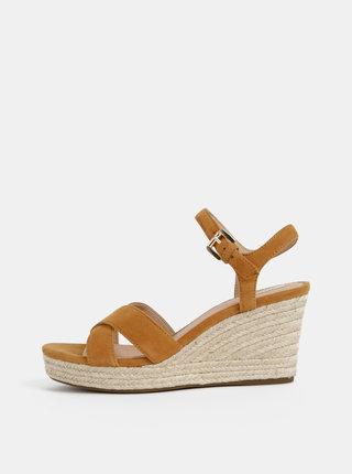 Sandale maro de dama din piele intoarsa Geox Soleil
