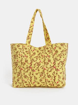 Žltá kvetovaná plážová taška Pieces Beth