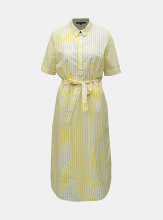 Žluté pruhované košilové šaty VERO MODA Cassie