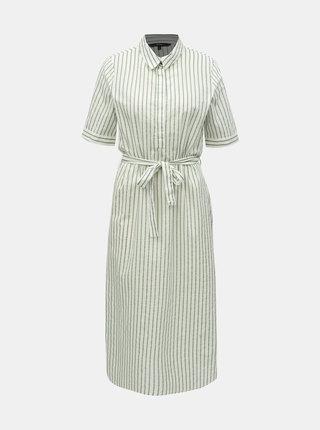 Zeleno–biele pruhované košeľové šaty VERO MODA Cassie