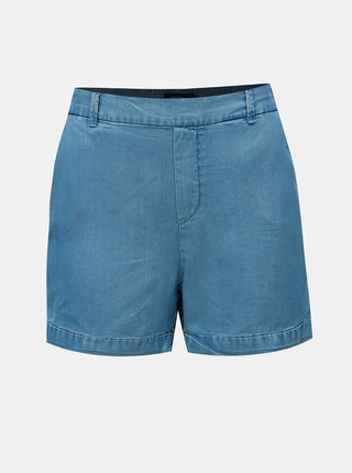 Pantaloni scurti albastru deschis din denim cu talie inalta VERO MODA Maya