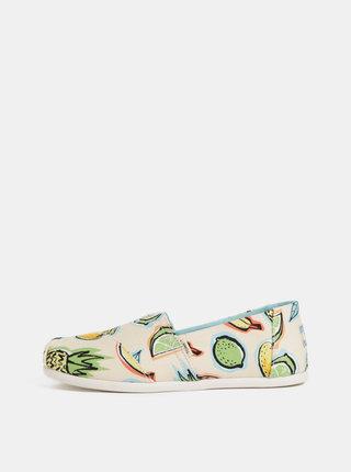 Pantofi espadrile bej de dama cu model TOMS