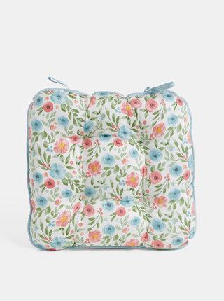 Perna pentru scaun florala verde-crem Cooksmart