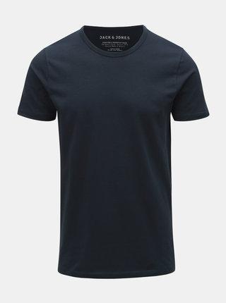 Tmavě modré basic tričko Jack & Jones