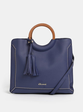 Tmavomodrá kabelka so strapcami Gionni Ruby