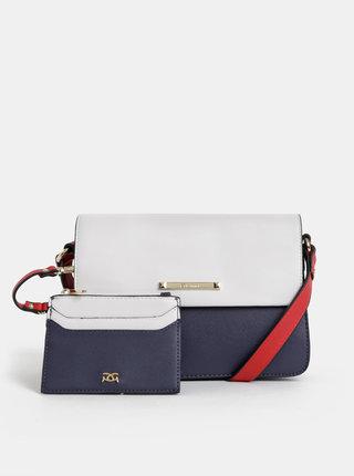 Bielo–modrá crossbody kabelka s puzdrom 2v1 Gionni Lilla