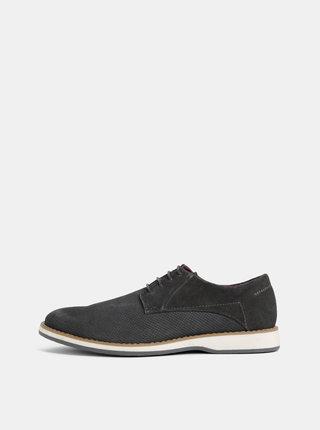 Pantofi barbatesti gri inchis din piele intoarsa Dice Glover