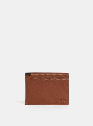 Hnědá pánská kožená peněženka Dice Coble