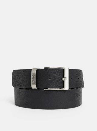 Černý pánský kožený pásek Dice Carson