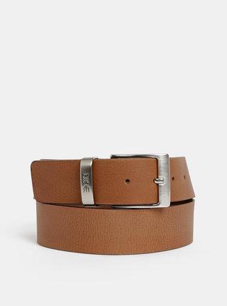 Hnědý pánský kožený pásek Dice Carson