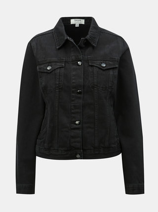 Jacheta neagra din denim Dorothy Perkins