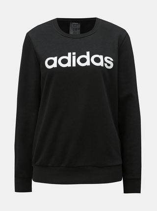 Bluza sport neagra de dama cu imprimeu adidas CORE