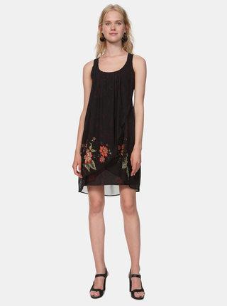 Černé vzorované šaty Desigual Julie