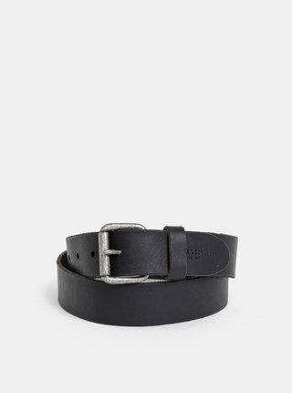 Černý kožený pásek Jack & Jones Jakob