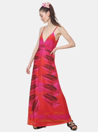 Rochie maxi roz inchis cu model Desigual Marcela