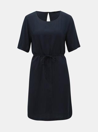 Tmavomodré šaty s prestrihom na chrbte ONLY First