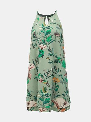 Rochie verde florala cu decupaje ONLY Mariana